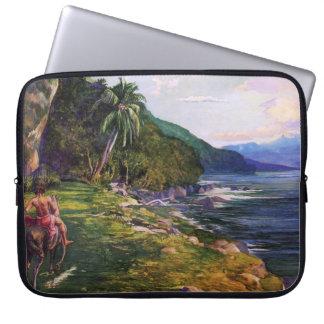'A Bridle Path in Tahiti' - John La Farge Laptop Sleeve