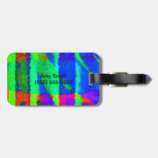 A Bright and Colorful Abstract Luggage Tag