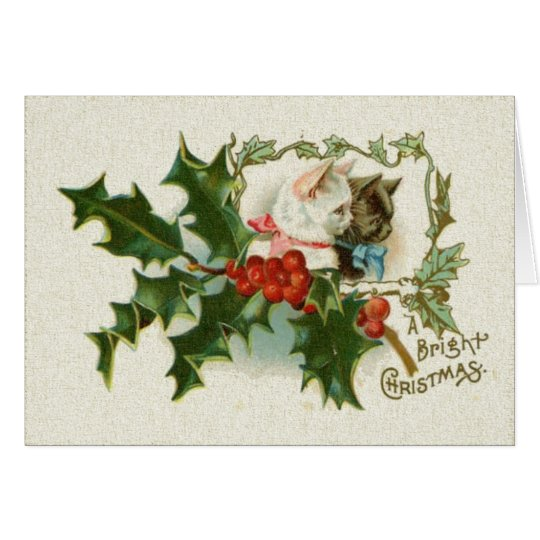 A Bright Christmas Kittens Card