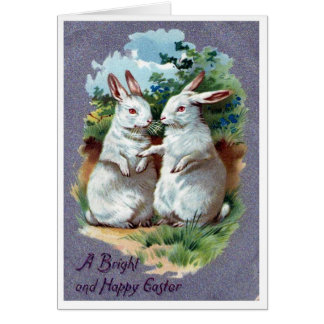 A Bright Happy Easter Bunny Blank Greeting Card