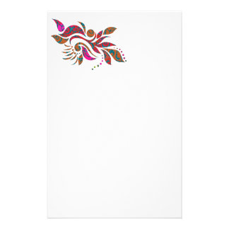 A bright modern abstract collage design stationery paper