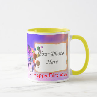 A Bright New Birthday 2-Photo Frame Mug