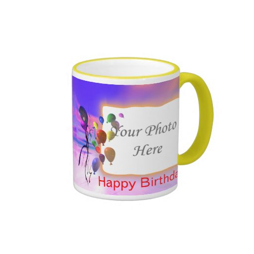 A Bright New Birthday 2-Photo Frame Coffee Mugs