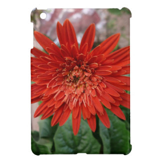 A bright red flower iPad mini cover