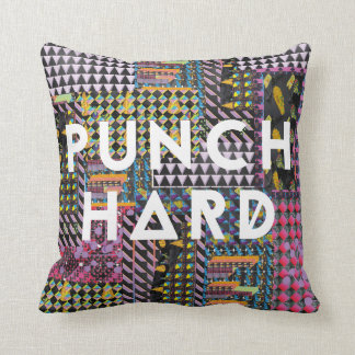 A brightly coloured punch me pillow