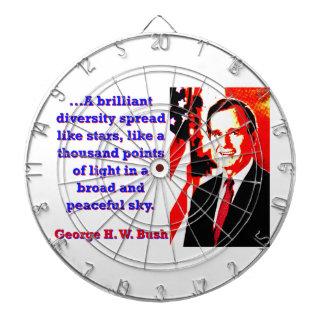 A Brilliant Diversity - George H W Bush Dartboard