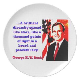 A Brilliant Diversity - George H W Bush Party Plates