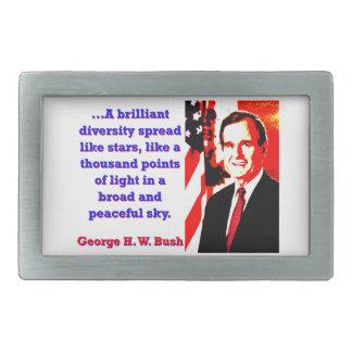 A Brilliant Diversity - George H W Bush Rectangular Belt Buckle