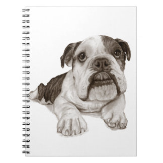 A Brindle Bulldog Puppy Note Books