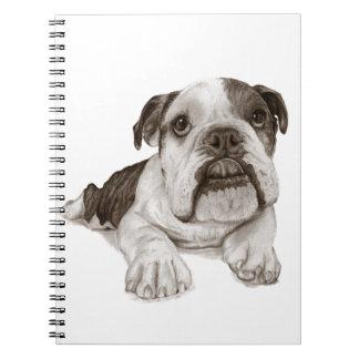 A Brindle Bulldog Puppy Notebooks