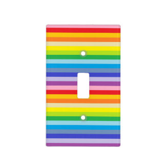 A Broader Spectrum Rainbow Stripes Light Switch Cover