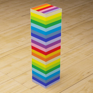 A Broader Spectrum Rainbow Stripes Wine Gift Box