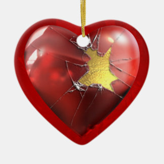 A Broken Heart Ceramic Ornament