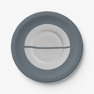 A Broken Saucer on a Plate Plate 7 Inch Paper Plate