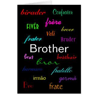 """A Brother's Birthday I"" Card - Customizable"