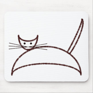 A brown cat mousepad