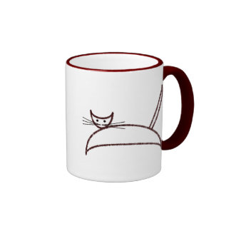 A brown cat mug