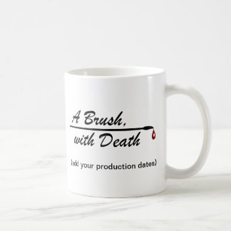 A Brush, with Death Production Photo Memento Mug