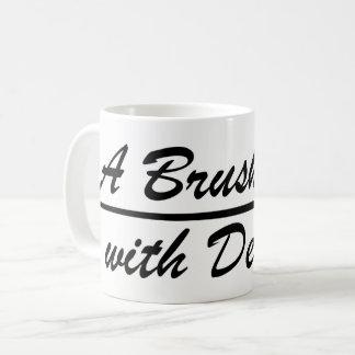 A Brush, with Death wraparound logo mug