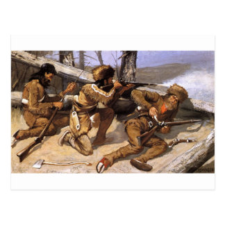 A Brush with the Redskins by Frederic Remington Postcard
