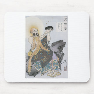 A Buddhist Monk Receives Seeds On a Moonlit Night Mouse Pad