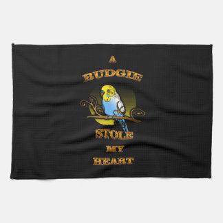 A Budgie Stole My Heart Kitchen Towel
