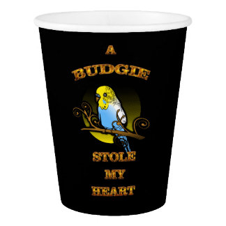 A Budgie Stole My Heart Paper Cup