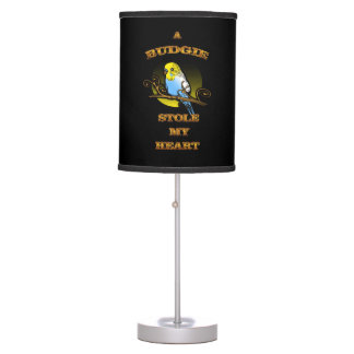A Budgie Stole My Heart Table Lamp