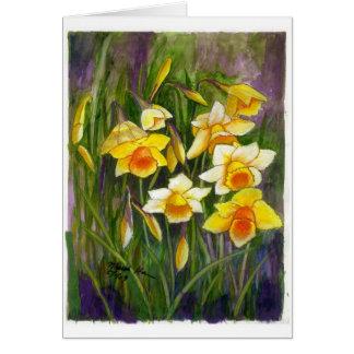A bunch of daffodiles card