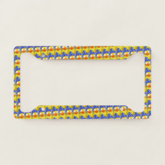 a bunch of ducks license plate frame
