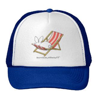 A bunny and a deckchair trucker hat