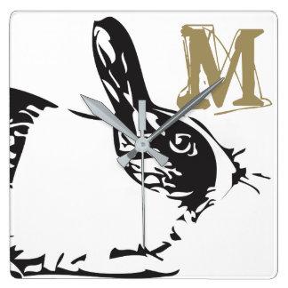 A Bunny Rabbit & A Monogram Clocks