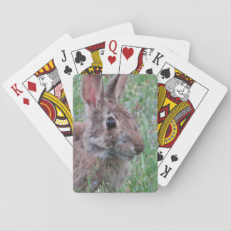 A Bunny Rabbit In Wildflowers Game Cards