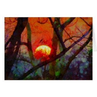 A Burmese Sunset Card