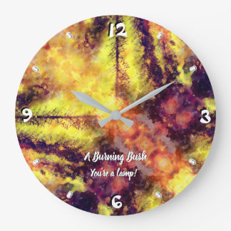 A Burning Bush 93 Large Clock