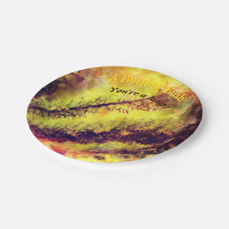 A Burning Bush Paper Plate