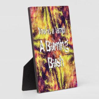 A Burning Bush Plaque