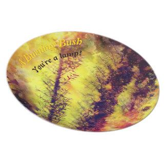 A Burning Bush Plate