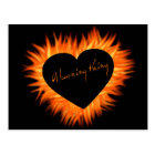 A Burning Thing Fire Heart Postcard