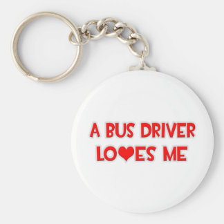 A Bus Driver Loves Me Keychain
