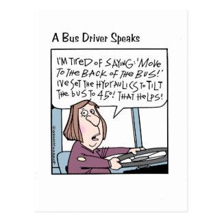 A Bus Driver Speaks Her Mind Postcard