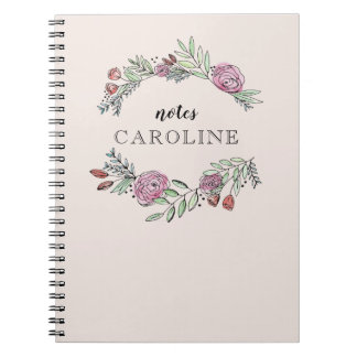 A Bushel and a Peck Personalized Notebook in Pink