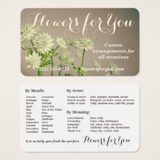 A Business Card Worth Keeping - Florist