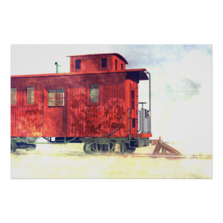 A caboose at the end of the line poster