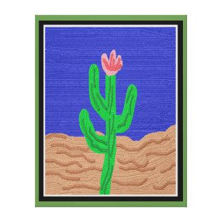A Cactus Flower Canvas Print