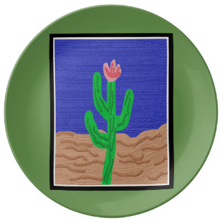 A Cactus Flower Plate