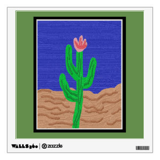 A Cactus Flower Wall Decal