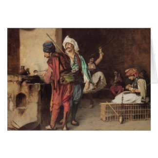 """A Cafe In Cairo"" by Jean Leon Gerome Card"