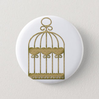 A cage is a cage even if it's beautiful 2 inch round button