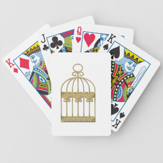 A cage is a cage even if it's beautiful bicycle playing cards
